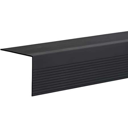 M-D Building Products 29702 36-Inch Vinyl Stair Edging Тwо Расk Black