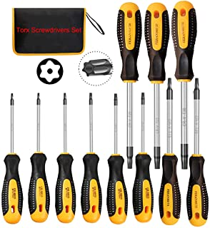 Magnetic Torx Screwdriver Sets,Multi-function Screwdriver Tool Kit with T5 T6 T7 T8 T9 T10 T15 T20 T25 T27 T30 for Project...