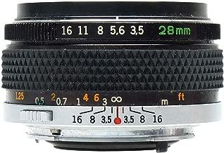 Olympus 28mm f/3.5 G.Zuiko Auto-W Manual Focus Wide Angle Lens for OM SLR Film Camera