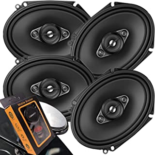 4 x Pioneer TS Series 350W Max 6' x 8' A-SERIES 4-Way Coaxial Car Speakers with Gravity Magnet Phone Holder Bundle (4 Speakers)