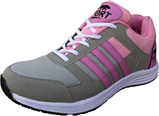 Port Women's Turbo Pink Mesh Sports Shoes