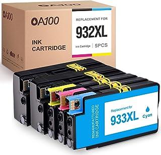 OA100 خراطيش حبر متوافقة استبدال ل HP 932XL 932 XL 933XL 933 XL لطابعات اوفيس جيت 6600 6700 6100 7100 7610 7612 (أسود سماو...