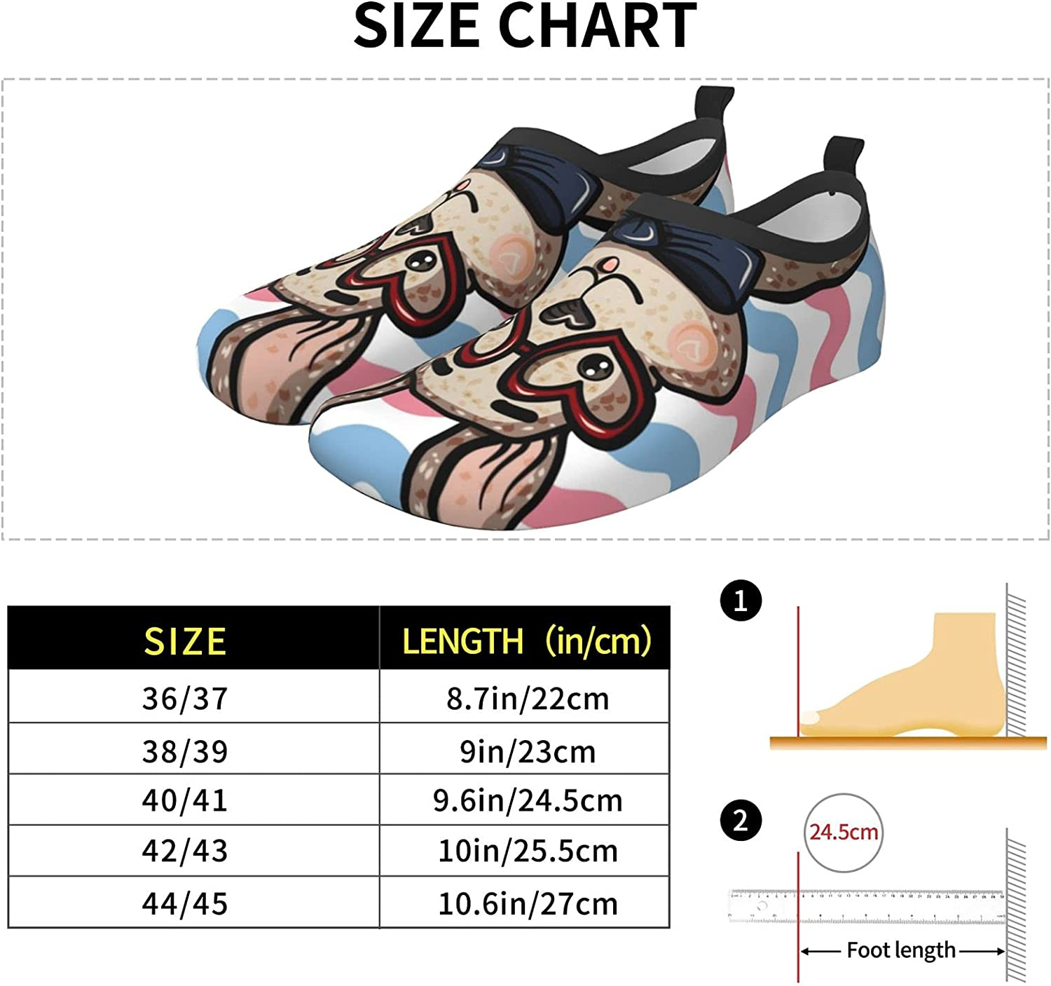 Rabbit On Striped Water Shoes Swim Wading Shoes Barefoot Aqua Shoes Beach Pool Surfing for Women Men