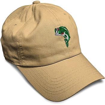 Custom Soft Baseball Cap Fish Sea Bass Embroidery Dad Hats for Men & Women