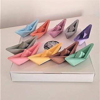 10 Mini Barche a vela in stile origami, Yumilab, Evento, matrimonio, decorazione per bambini, resina ceramica, mare, barca