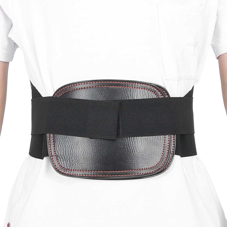 Soporte de espalda, cinturón de soporte de cintura lumbar, soporte lumbosacro de espalda baja transpirable con placa de acero para aliviar el dolor de espalda, hernia de disco, ciática, escoliosis y m