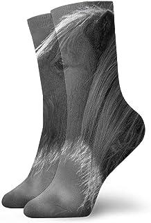 Elsaone, Equipo de calcetines en escala de grises para hombres, mujeres, niños, trekking, rendimiento, exteriores 30 cm (11.8 pulgadas)
