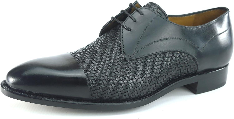 billos Santos All All All Läder Welded Handgjort Interlace Tan svart herr skor  100% autentisk