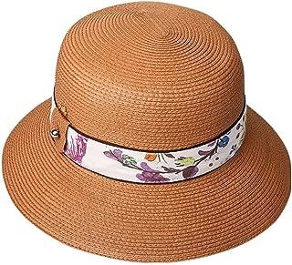 SJZQL Gorra para el Sol de celulosa Tejida a Mano, Gorra de Paja Ajustable Plegable, Resistente a los Rayos UV, Transpirable, Gorra de Playa de Verano, Viajes al Aire Libre, (Color : Style B)