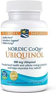 Nordic Naturals Nordic CoQ10 Ubiquinol - 100 mg Coenzyme Q10 (CoQ10) Ubiquinol - 60 Mini Soft Gels - Heart & Brain Health,...