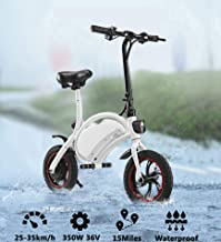 Folding Electric Bicycle, 36V Lightweight E-Bike Mini Electric Bike, Collapsible Frame Aluminum Alloy Folding Ebike with Removable Lithium-ion Battery