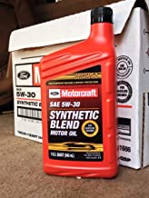 Motorcraft SAE 5w30 Synthetic Blend Motor Oil- 12 Quart Case