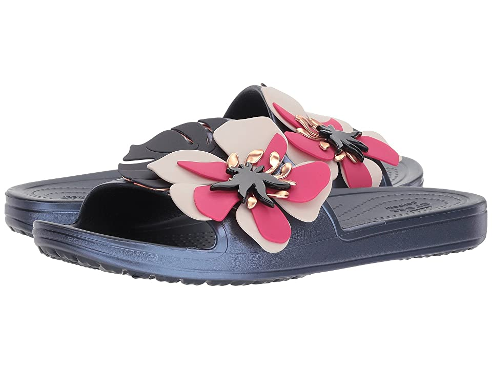 Crocs Crocs Sloane Botanical Floral Slide (Navy) Women