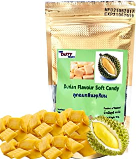 Durian Flavoured King of Fruit Soft Chewy Candy 90 Gram or 3.15 Ounce Product of Thailand Pack of 2