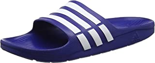 adidas Men Sandals Swimming Duramo Slides Blue Beach Shoes Unisex G14309 New