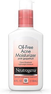 Neutrogena 露得清 无油面部保湿霜,含水杨酸,粉红葡萄柚,4液体盎司(118毫升)