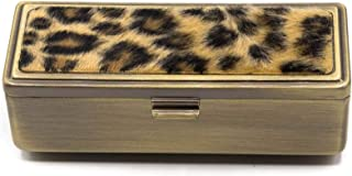 Leopard Print Boxed Travel Lipstick Case With Mirror