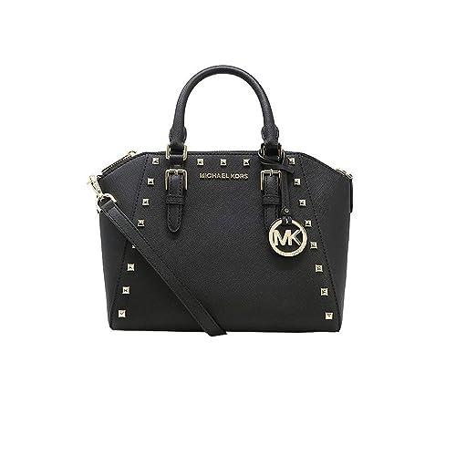 126d9207c029 Michael Kors Studded Medium Ciara Saffiano Leather Womens Messenger Bag