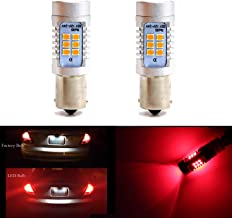 1157 BAY15D 1016 1034 1178A 1196 2057 Brake Tail Light Bulbs 21 SMD Extremely Bright Red LED Bulb 2835 Chips Sider Marker Light Bulbs Lamp (Set of 2)
