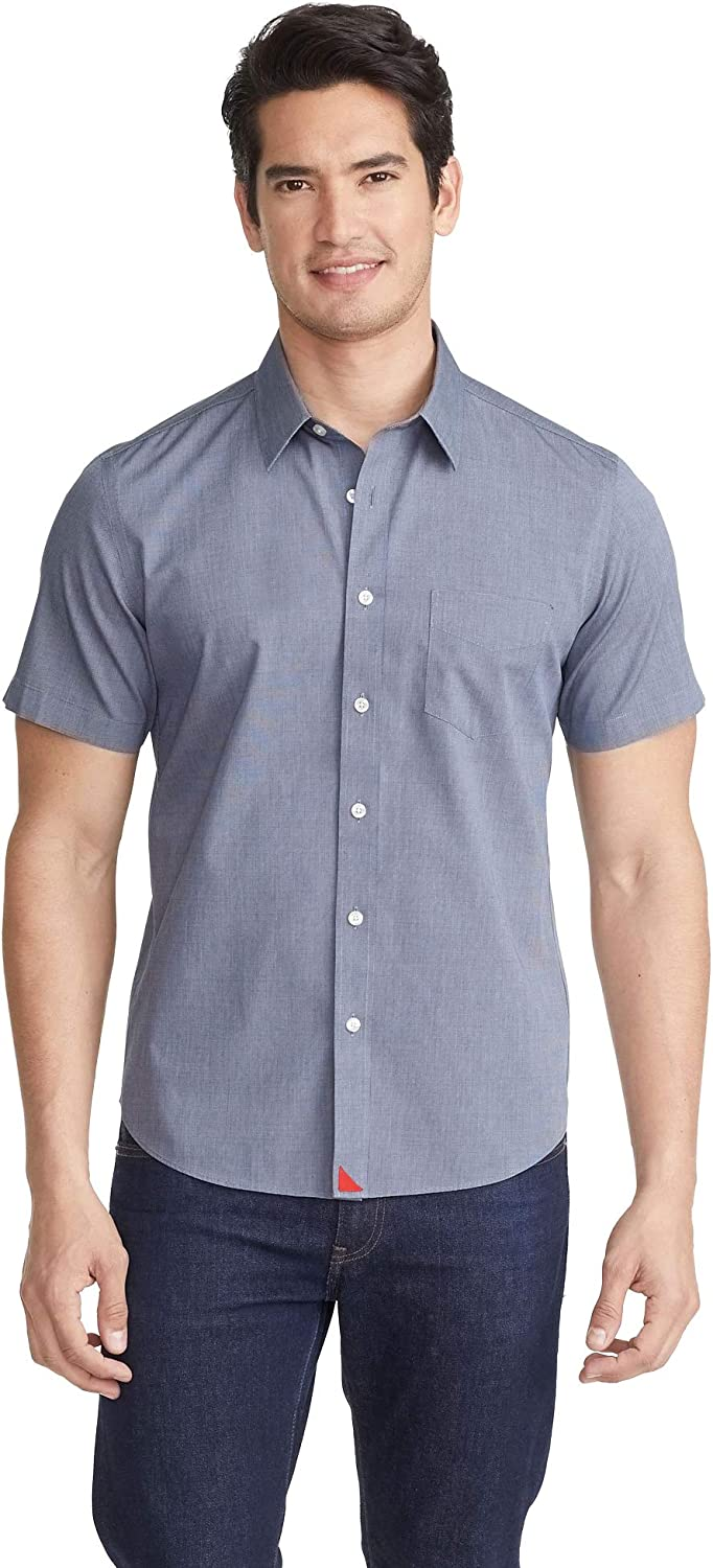 Ranking TOP10 UNTUCKit Petrus Untucked Shirt for Men Sleeve Short Na Clearance SALE! Limited time! Solid -