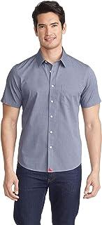 Petrus Untucked Shirt for Men - Short Sleeve - Solid Navy
