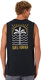 Swell Men's Palm Wave Mens Muscle Sleeveless Cotton Blue