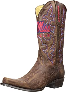 NCAA Mississippi Old Miss Rebels Men's Board Room Style Boots