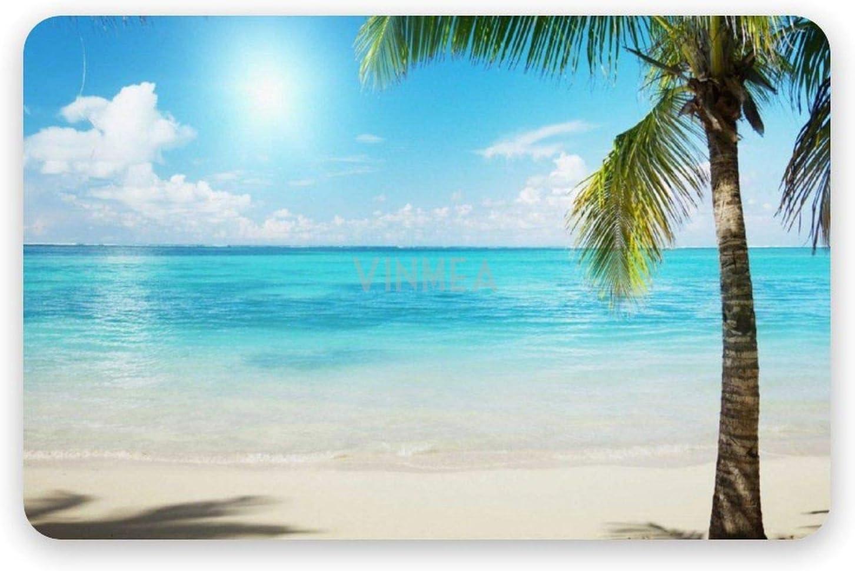 VinMea Diatomaceous Max 40% OFF Free shipping / New Earth Bath Mat Palms Tree Sand Summer Beach