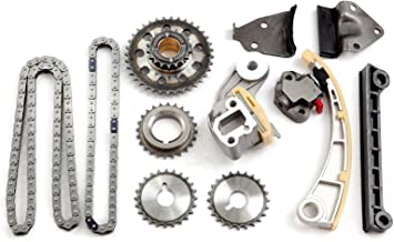 OCPTY Timing Chain Kit Tensioner Guide Rail Cam Sprockets fits for J20A J18A Fits 96-09 Chevy Suzuki 1.8L 2.0L DOHC 16v TKSK004