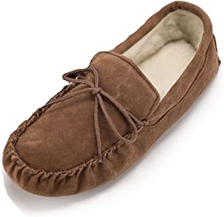 Unisex Lambswool Moccasin with Soft Sole - Camel