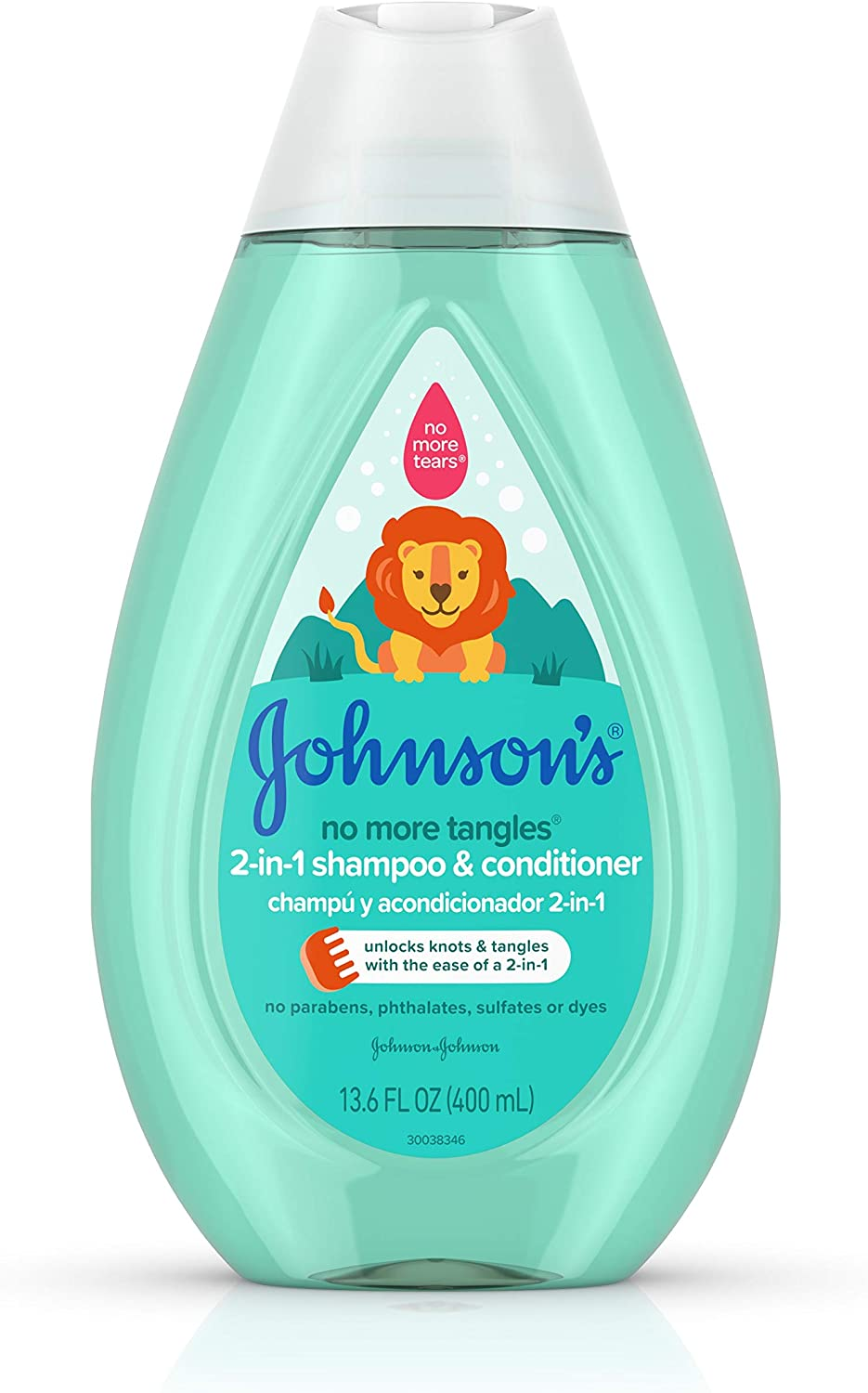 Johnson's Baby Tear Free Detangling 2-in-1 Toddler & Kids Shampoo & Conditioner, 13.6 Fluid Ounce