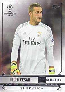 2016-17 Topps UEFA Champions League Showcase Soccer #173 Julio Cesar SL Benfica