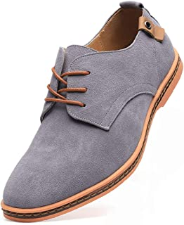 DADAWEN Men`s Classic Suede Leather Oxford Dress Shoes Business Casual Shoes