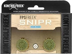 KontrolFreek FPS Freek Snipr for PlayStation 4 (PS4) Controller | Performance Thumbsticks | 2 High-Rise Convex (Domed) | Green
