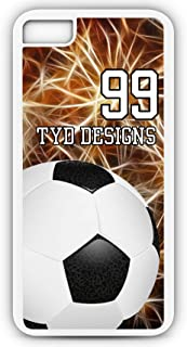 iPhone Tough Case Fits Models 8 or 7 Create Your Own Soccer SC1034 with Player Jersey Number and/Or Name Or Team Name Customizable by TYD Designs in Tough White