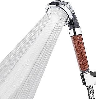 Ionic Shower Head,High Pressure Water Saving 3 Mode Function Filtered Handheld Showerhead,Anion Energy Ball Purifies Water Shower Remove Chlorine,Softens Hard Water
