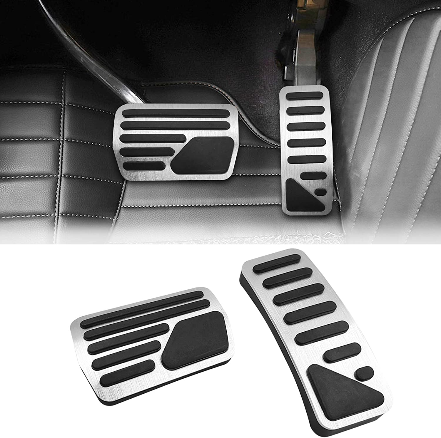 TTCR-II No Drill Pedal Covers for Jeep Grand Cherokee and Dodge ...
