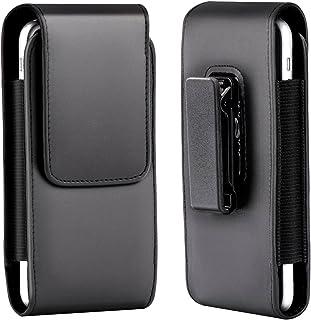 9850e6a8bc1 Xidan Funda Vertical de Cuero con Clip para Cinturón con Clip de Cinturón  Giratorio para iPhone