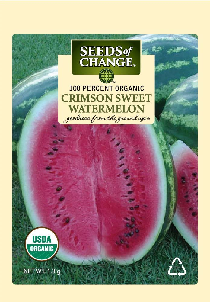 Seeds of Change S10653 Certified Organic Crimson Sweet Watermelon