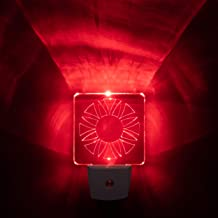 Red LED Night Light for Bedrooms & Bathrooms [Package of 2] - BioRhythm Safe(TM) - (Circle)