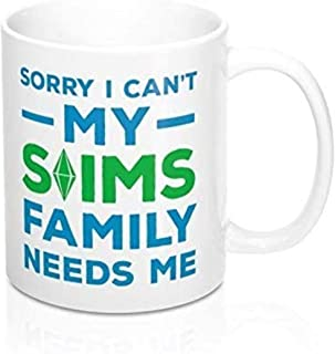 N\A Nouveau Funny The Sims Mug I Cant My Sims Family Need Me The Sims Funny Coffee Mugs Mug for Boyfriend Computer Gamer C...