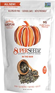 Sponsored Ad - Superseedz Raw Pumpkin Seeds (Pepitas) | Unsalted| No Shell | Whole 30, Paleo, Vegan & Keto Friendly | 9g P...