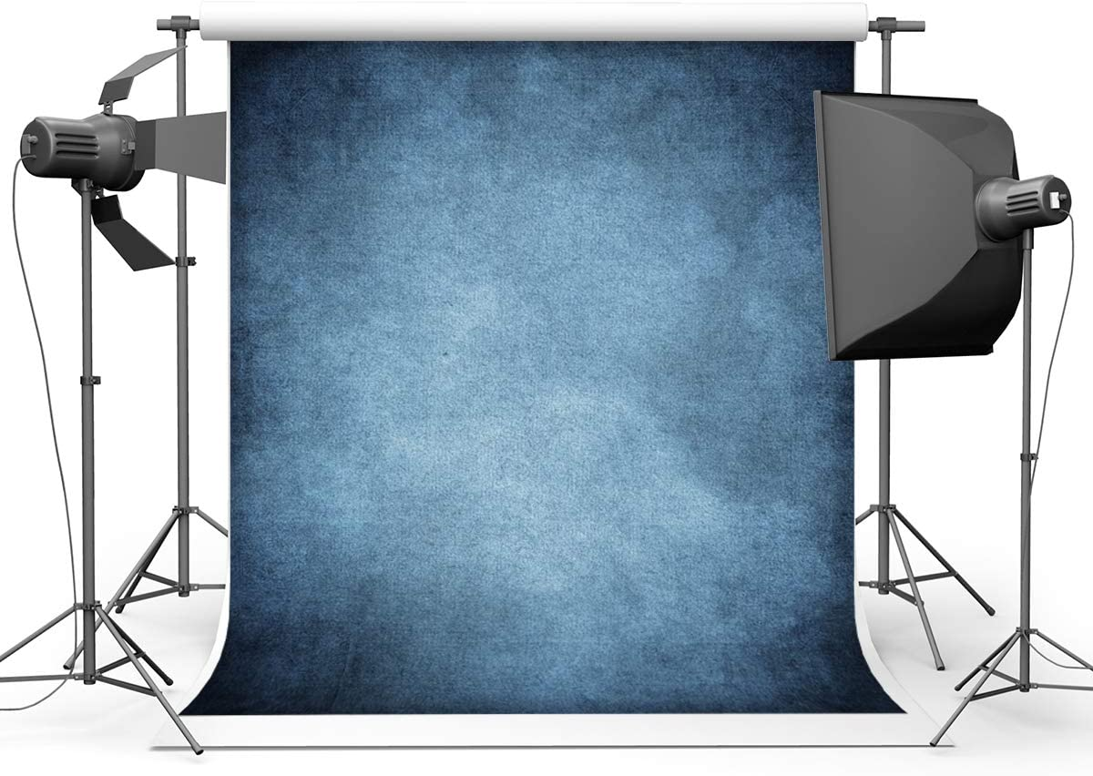 Kackool 10x10ft Blue Backdrop Portrait Backdrops Fabric Backdrop