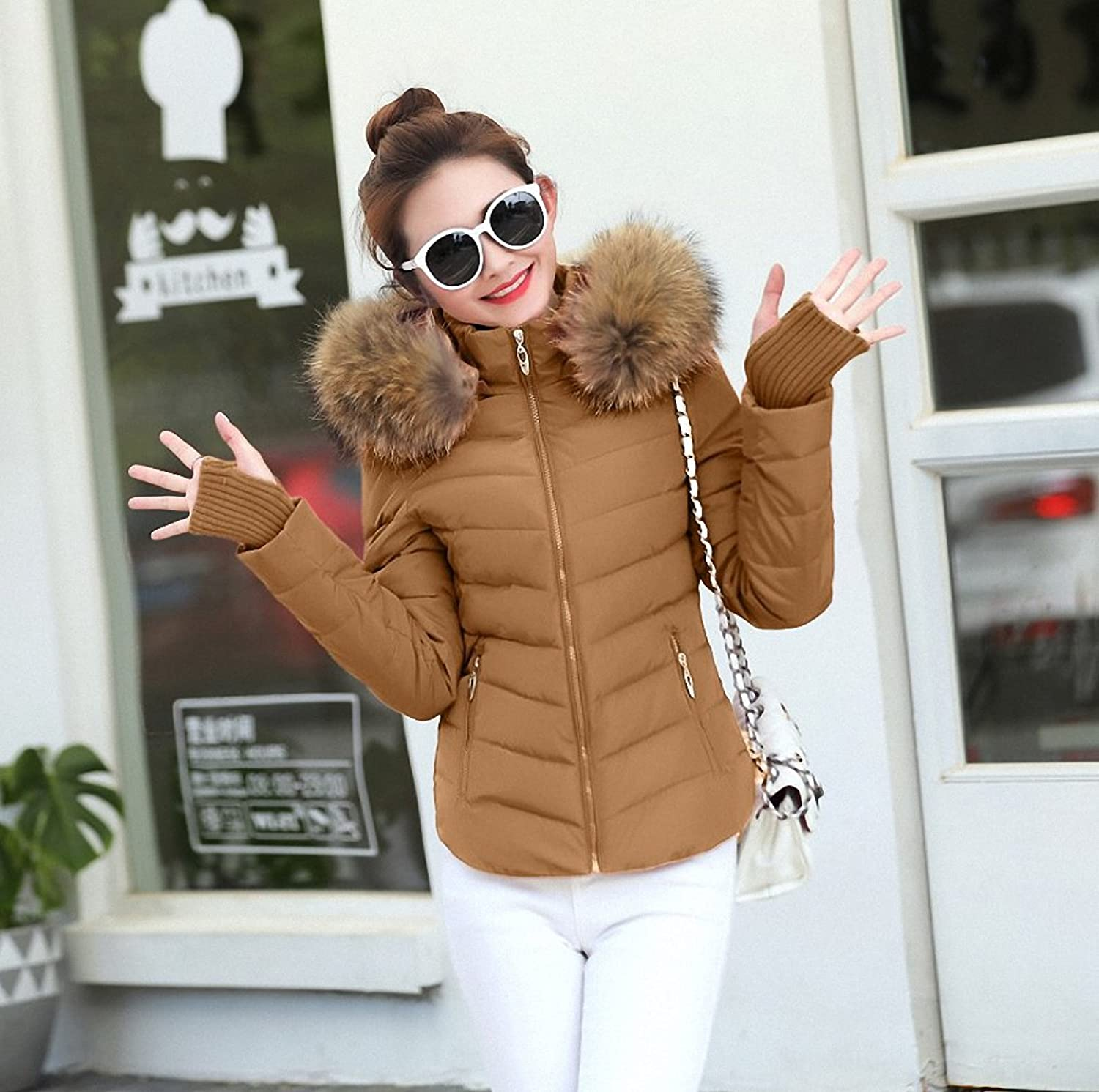 Womens Parka Autumn Winter Jacket Parkas For Coat Female Down Jacket With Hood 100% True Raccoon Collar Plus Size
