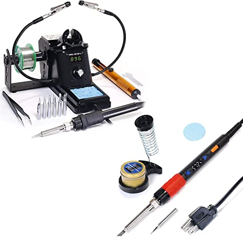 wholesale YIHUA 926 III Digital Soldering Iron Station (black) online sale bundle with high quality YIHUA 928D-III High Power Soldering Iron as Secondary/Backup and Accessories (17 Items) online