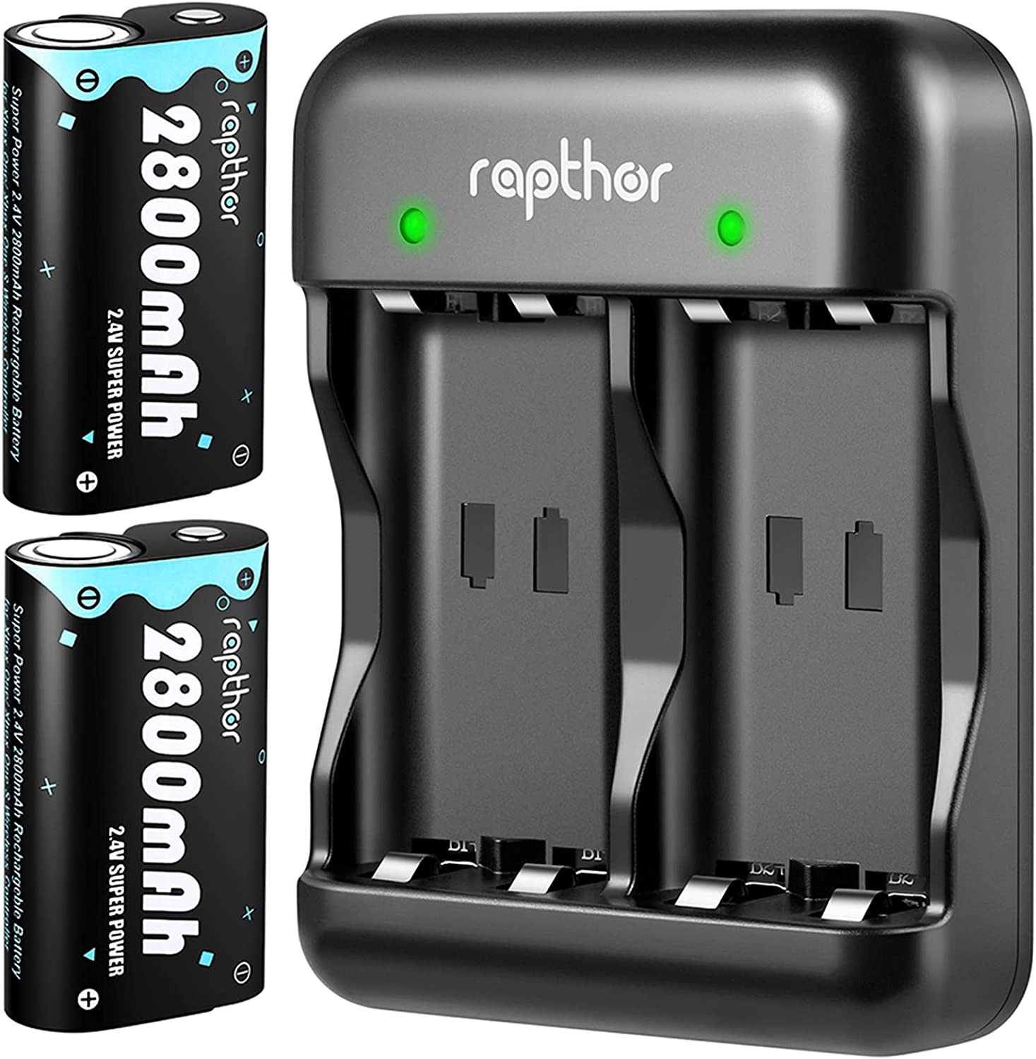 Rapthor 2X 2800mAh Replacement Xbox Pack Free shipping on posting reviews Max 59% OFF One Battery Controller