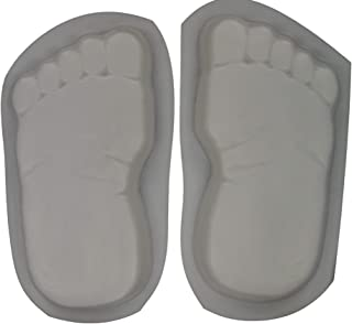 Huge 16 Inch Footprints Bare Feet Stepping Stone Concrete Mold Set 1260