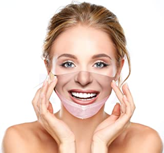 Funny Face Mask for Adults,Maskless Pulled Down Prank Mouth Covering Trick Prank Pattern TIK_Tok Masks for Men Women