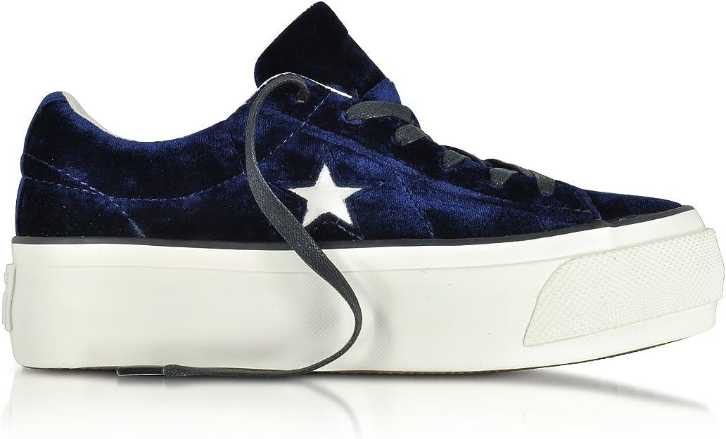 Converse Sneakers Donna 558952C Velluto Blu : Amazon.it: Moda