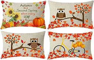 LTD Happy Autumn Harvest Set of 2 Girl Boy Owls Plush Decoration Fall Home Decor